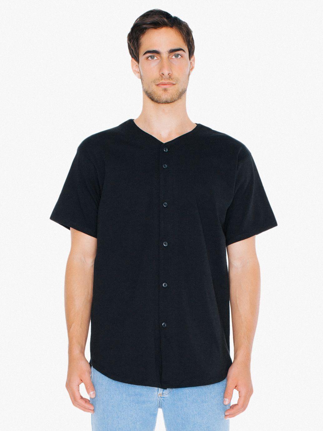AMA T-shirt Baseball Jersey Thick Knit