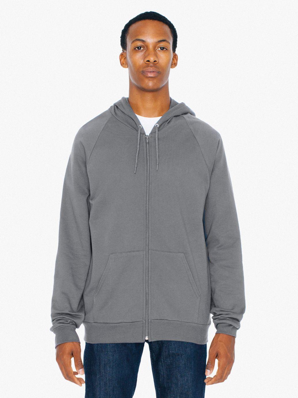 AMA Sweater Hooded Zip California Fleece