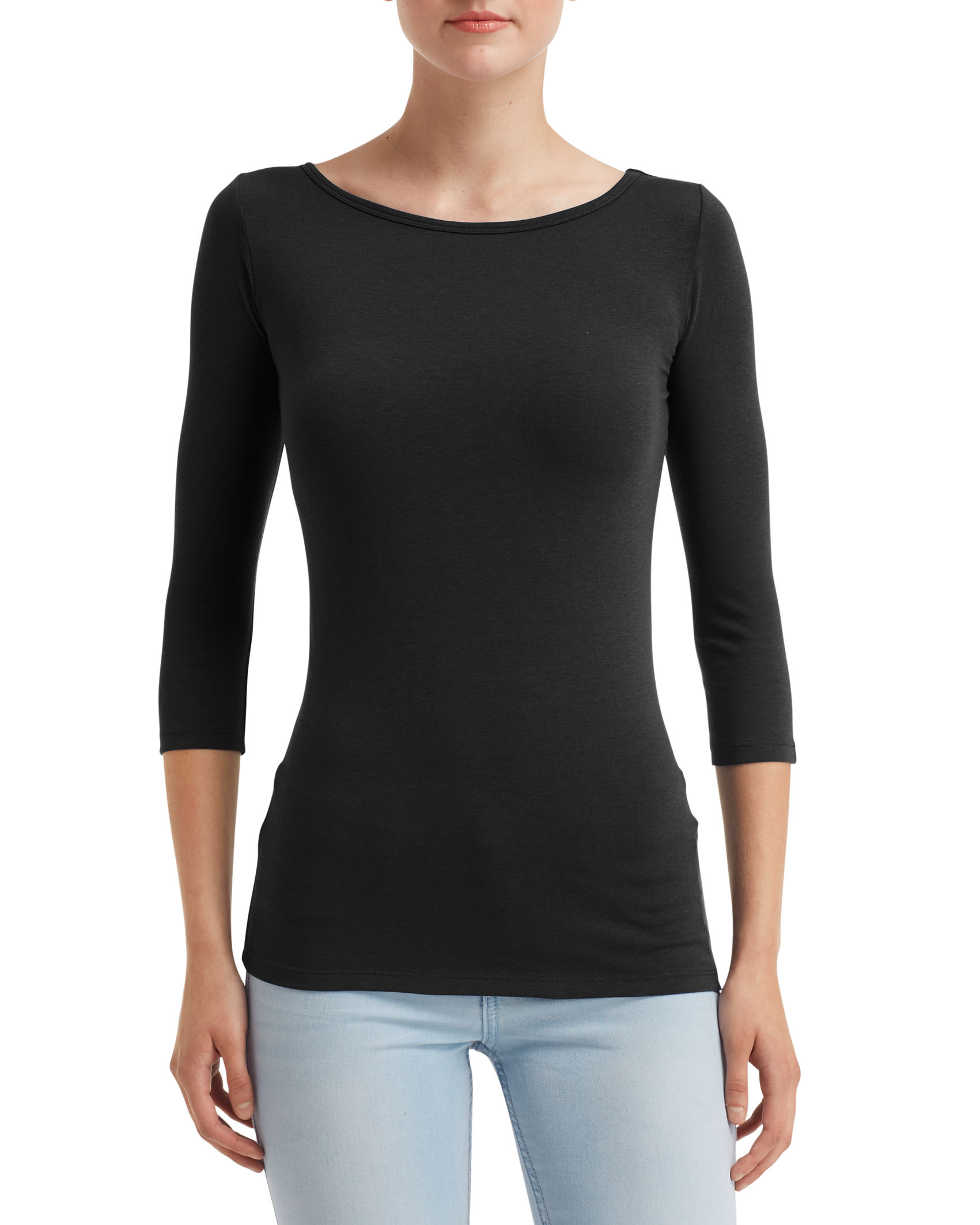 Anvil T-shirt Stretch 3/4 Sleeve for her