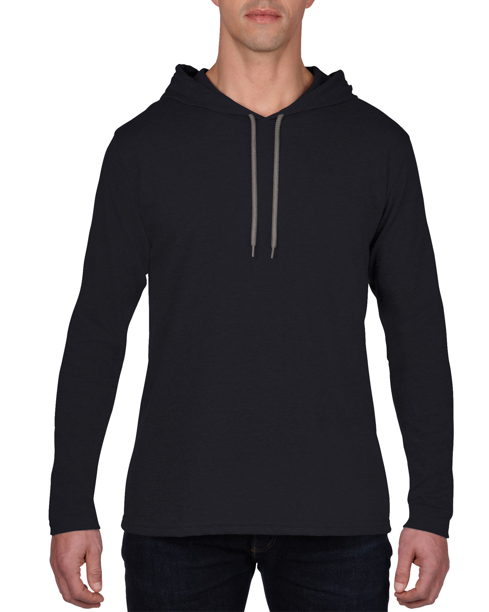 Anvil T-shirt Hooded Lightweight LS for him