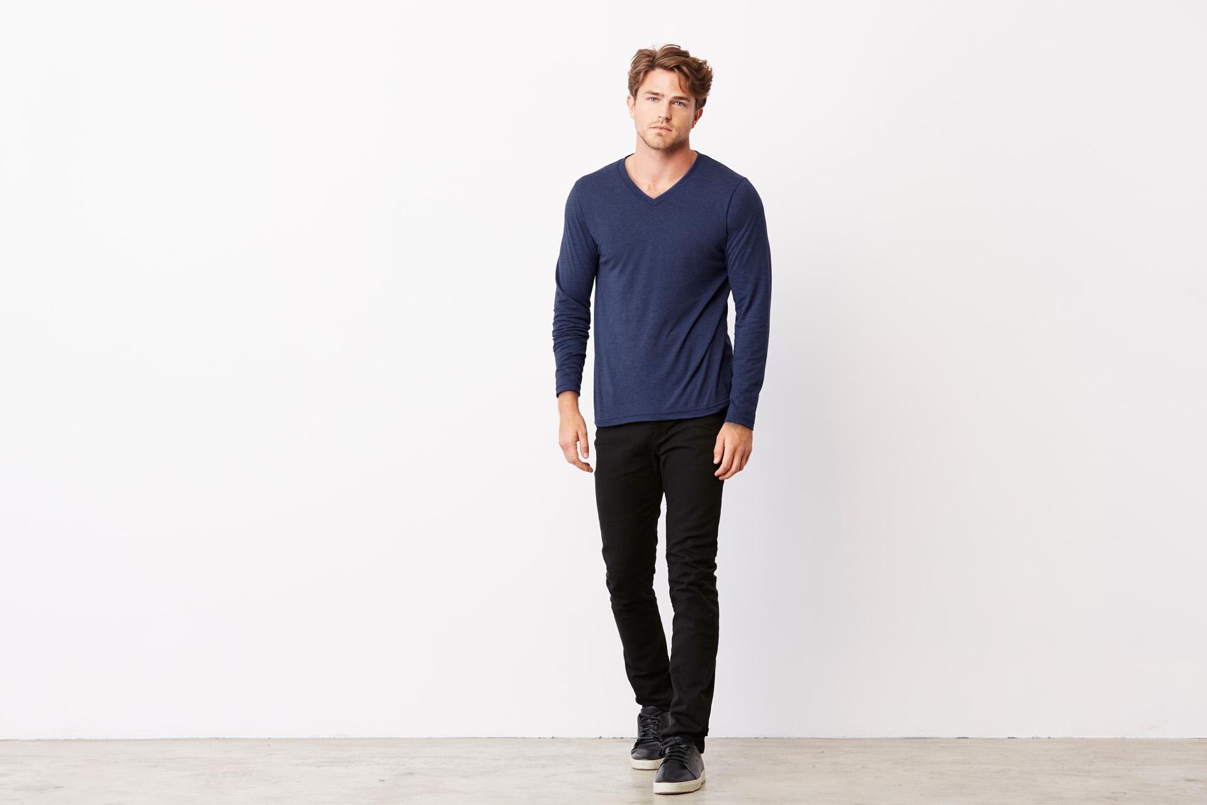 Bel+Can T-shirt V-neck Tribl LS