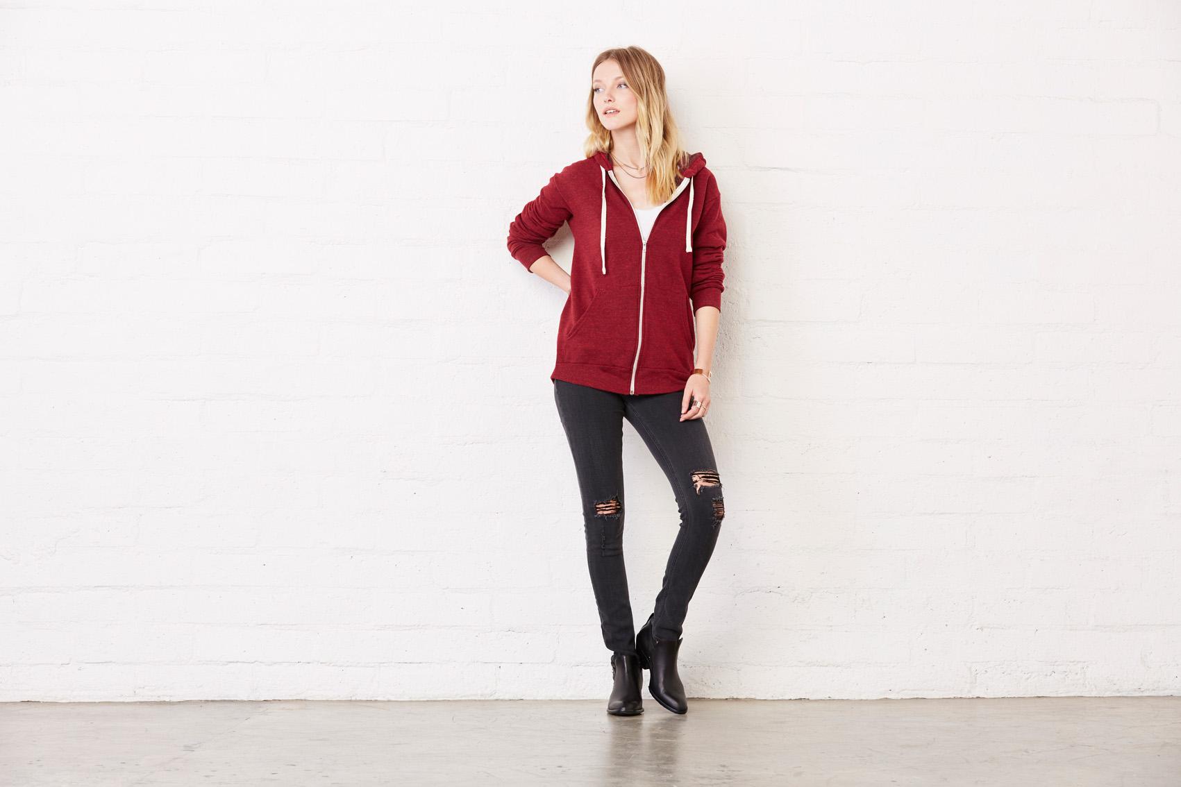 Bel+Can Sweater Hood Zip Tribl Unisex