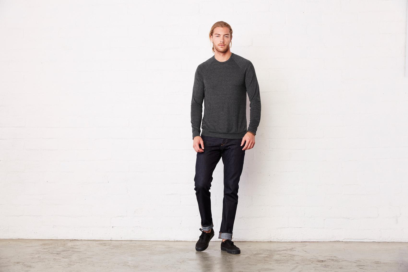 Bel+Can Sweater Crewneck Lightw Unisex