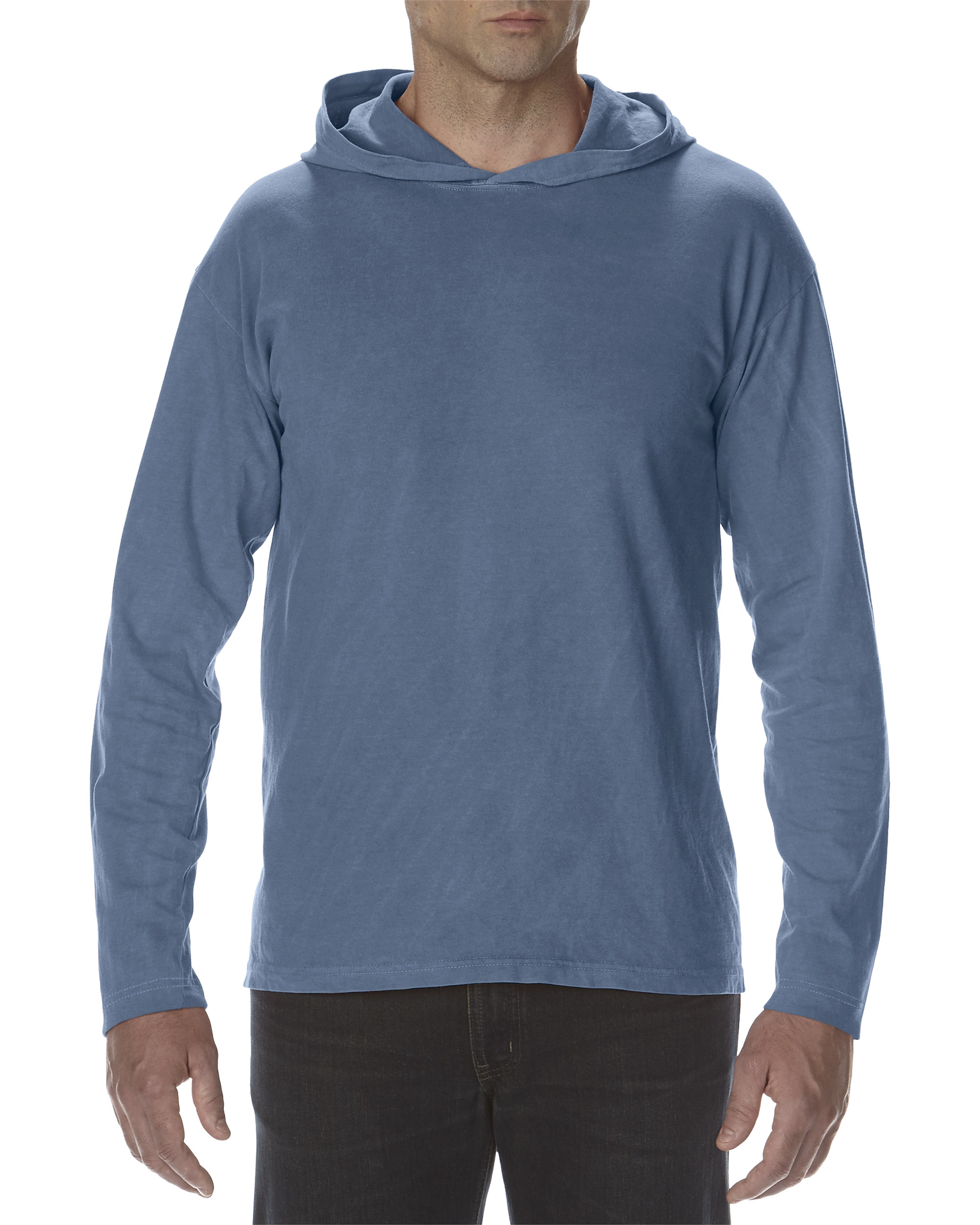 ComCol Hooded T-shirt Heavyweight LS for him