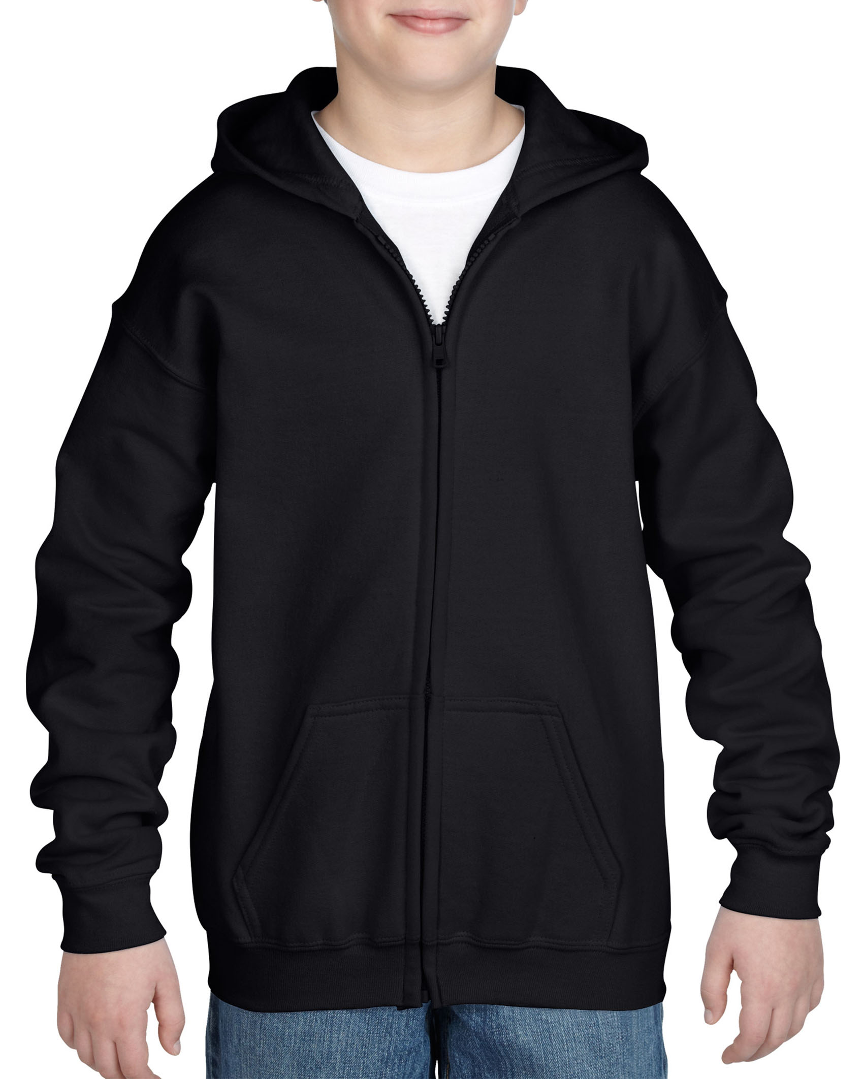 Gildan Sweater Hooded Full Zip HeavyBlend for kids