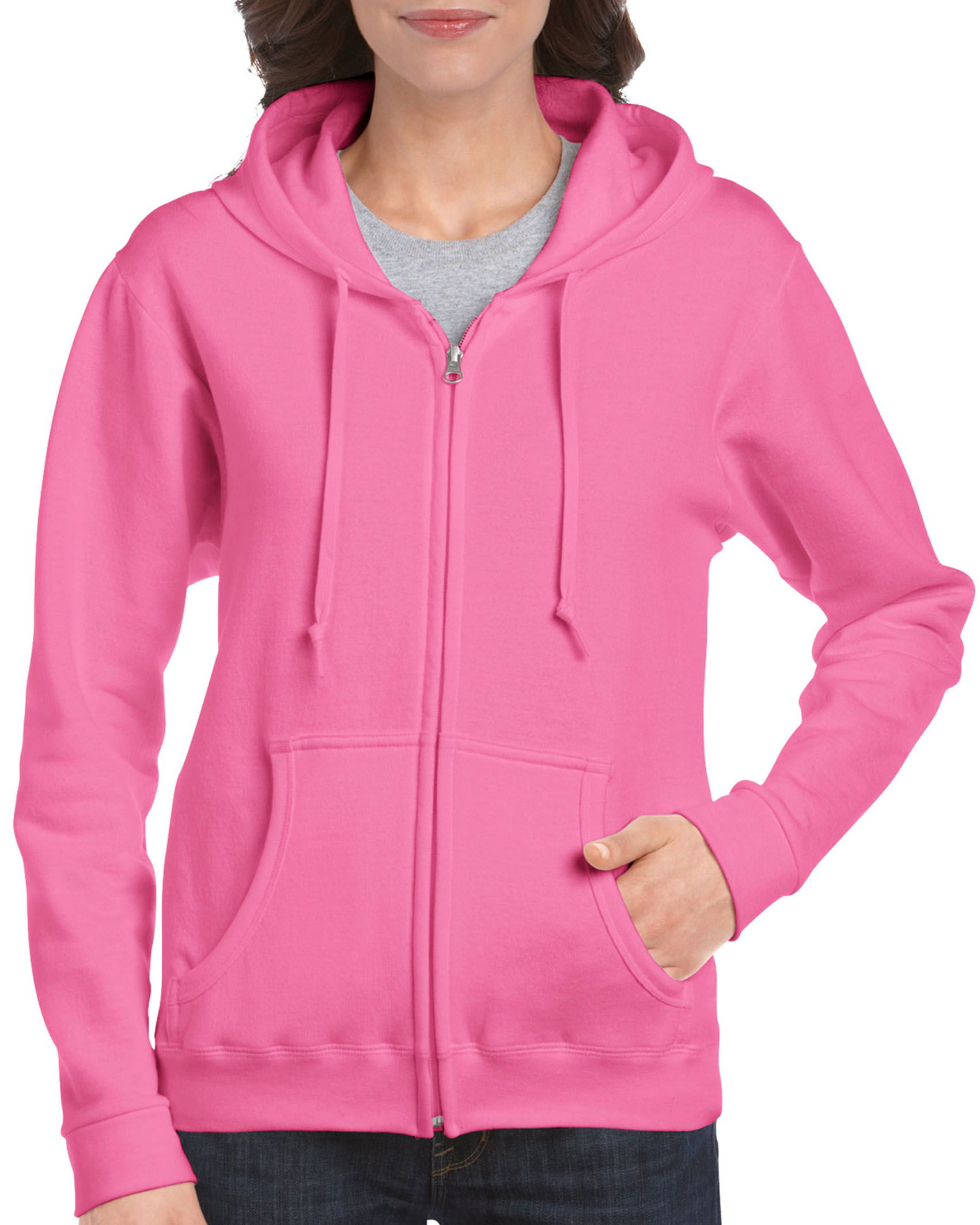 Gildan Sweater Hooded Full Zip HeavyBlend for her