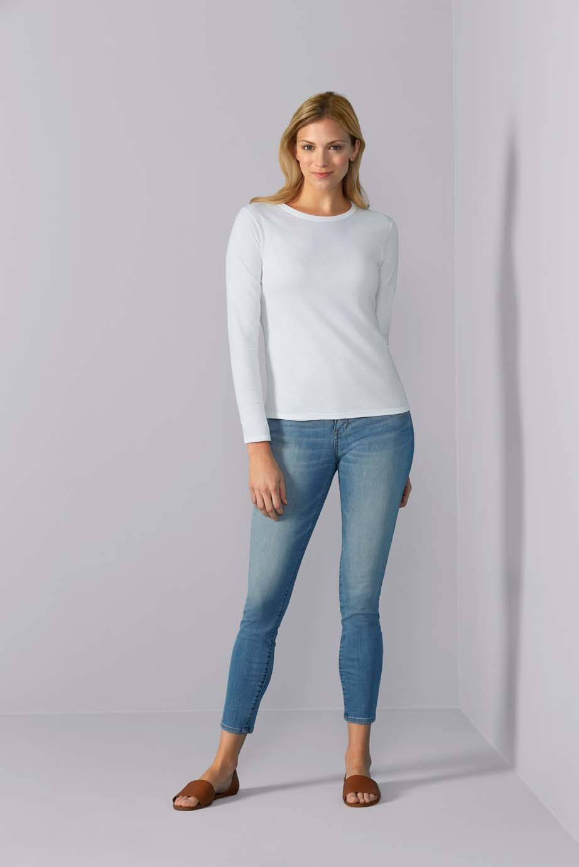 Gildan T-shirt SoftStyle Lange mouw voor Dames
