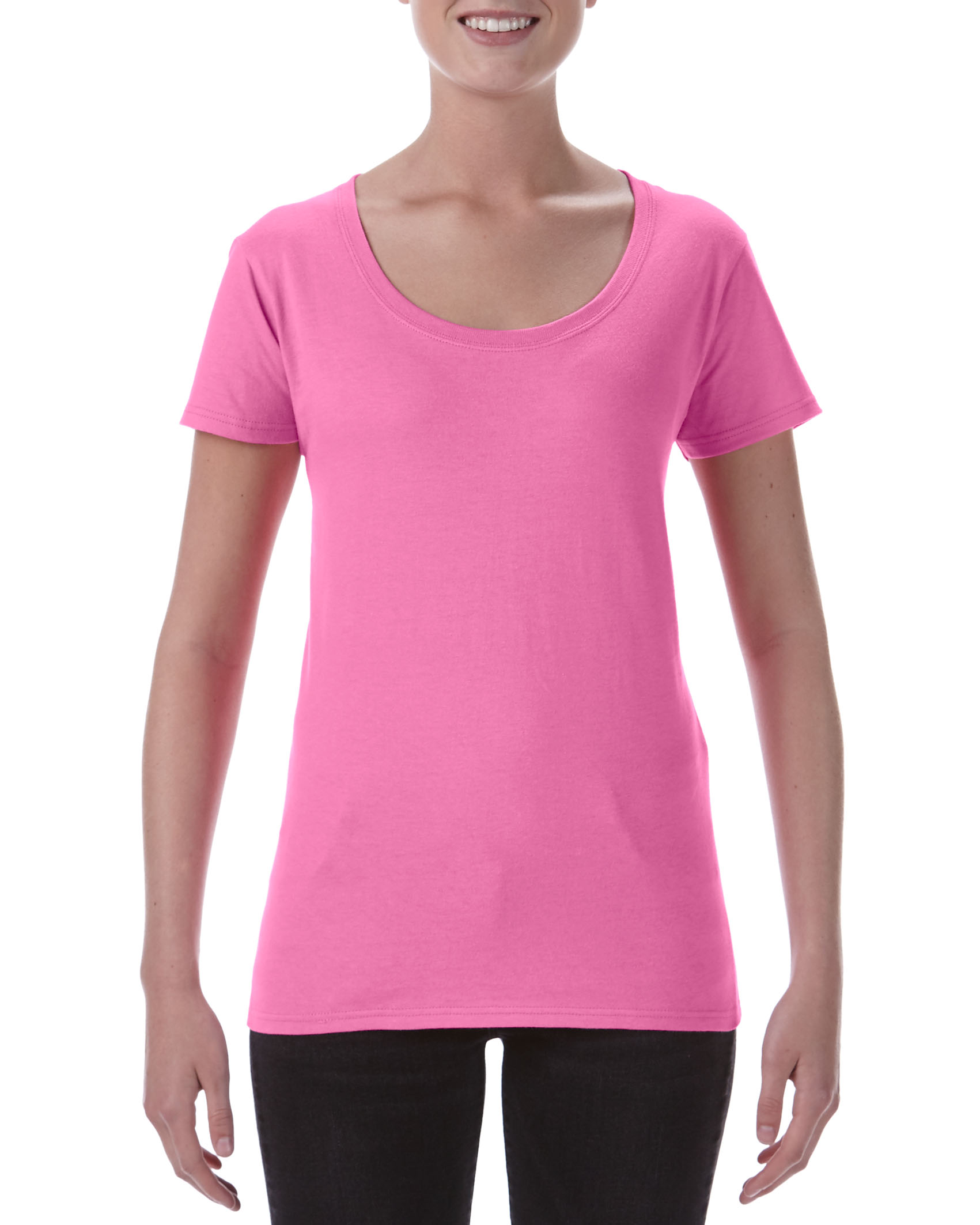 Gildan T-shirt Deep Scoop SoftStyle SS for her