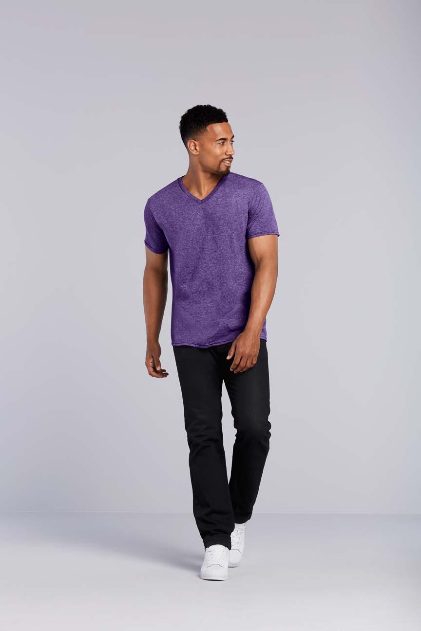 Gildan T-shirt V-hals SoftStyle voor Heren
