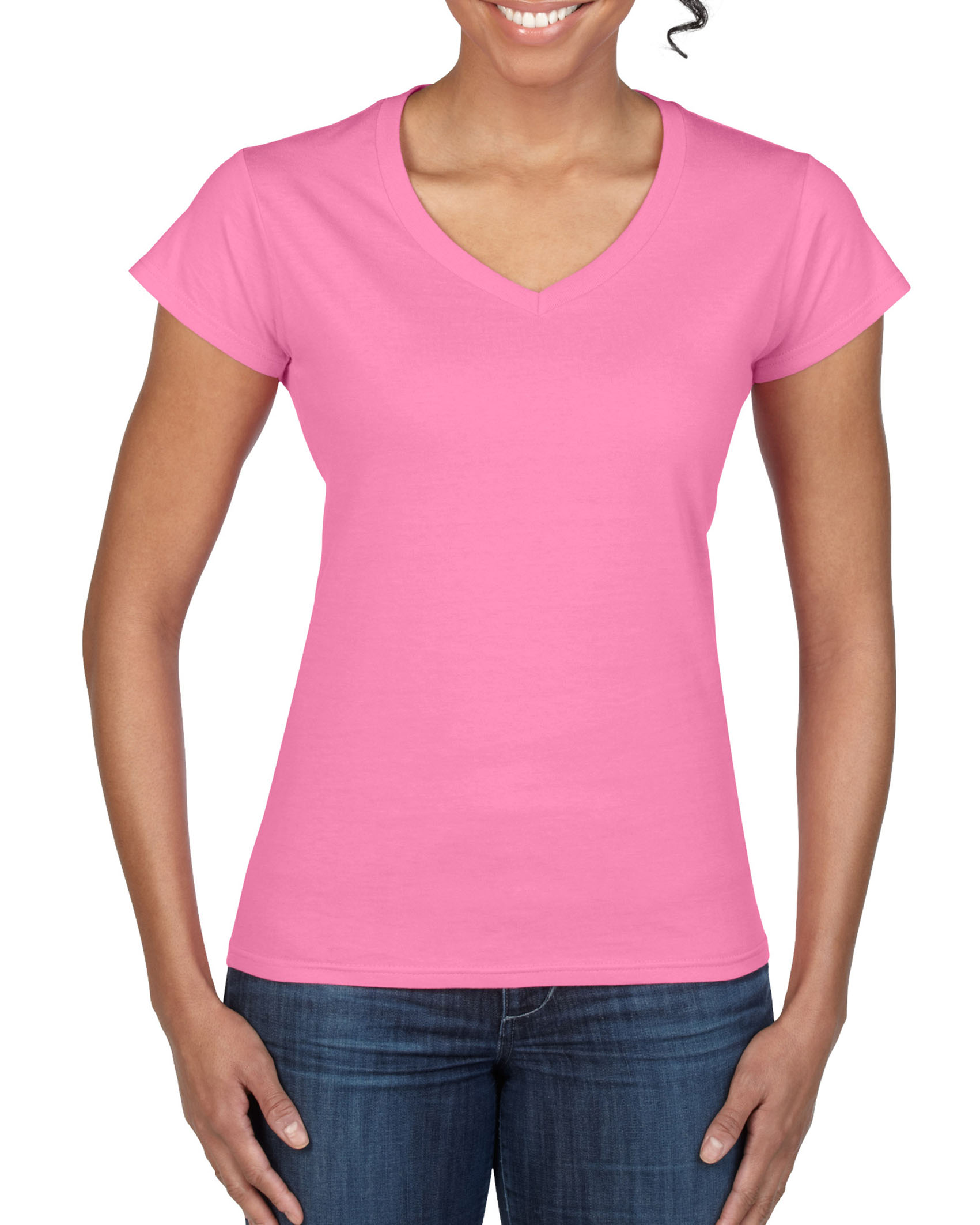 Gildan T-shirt V-Neck SoftStyle SS for her