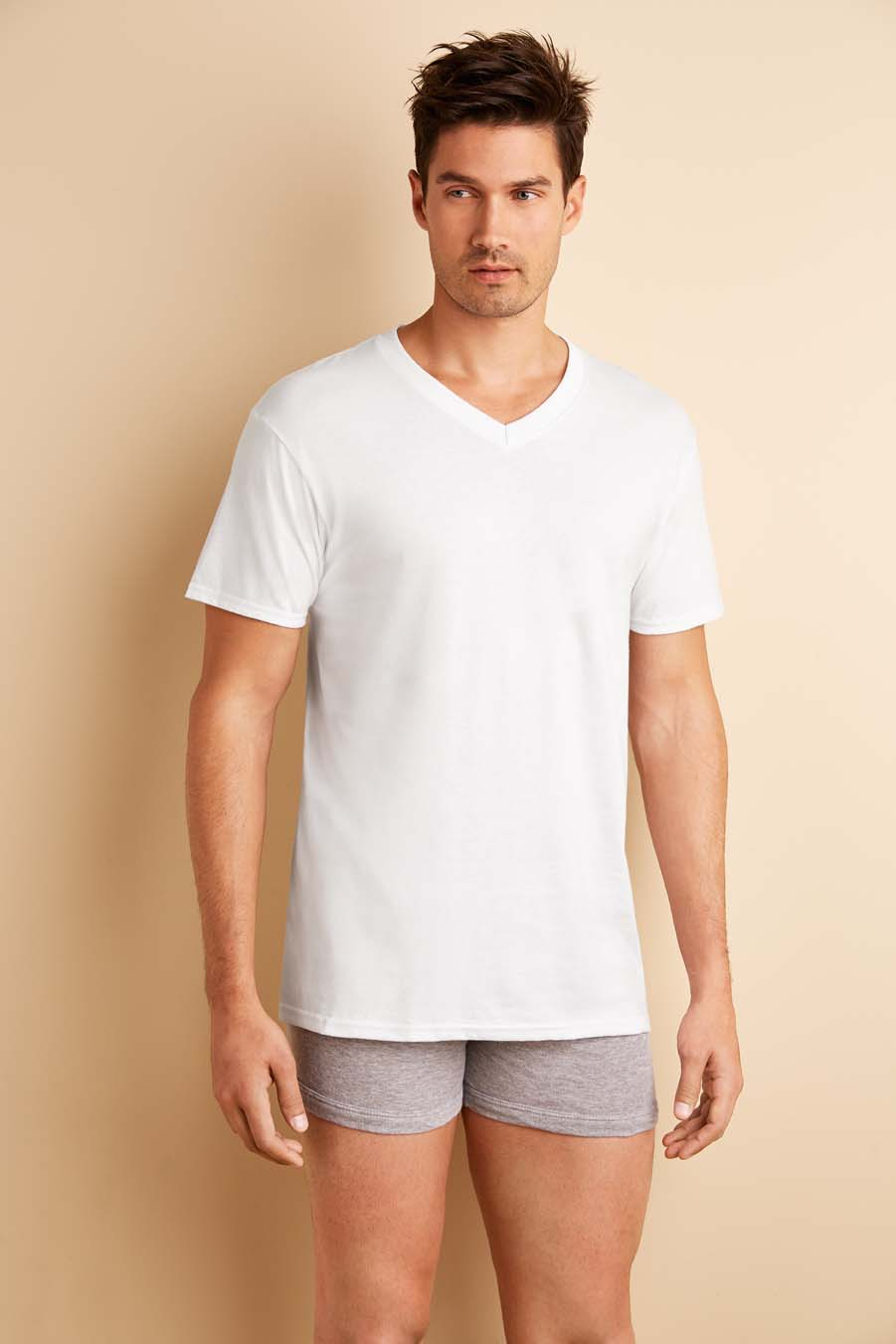 Gildan UW T-shirt V-neck 4-pack
