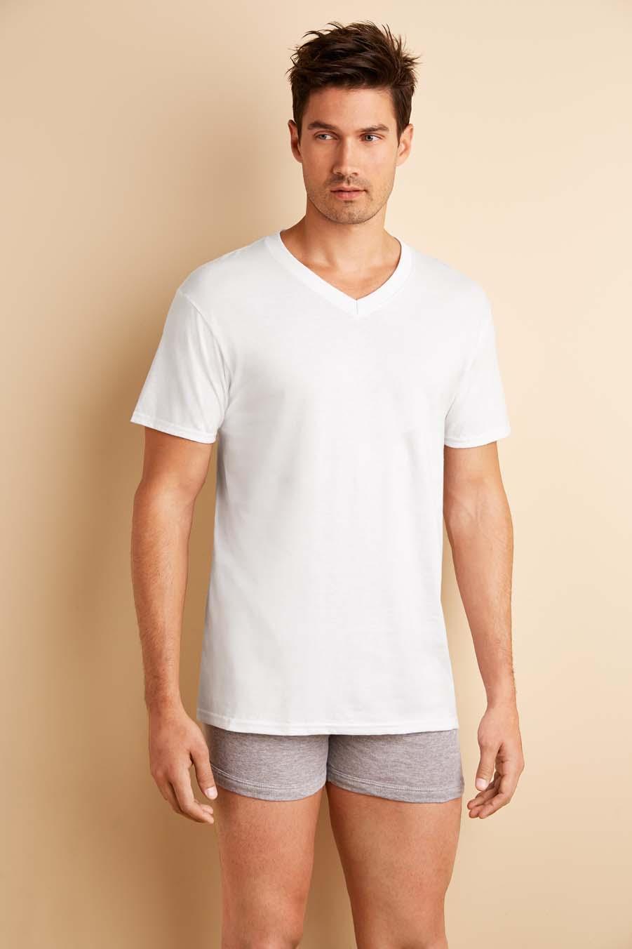 Gildan UW T-shirt V-neck 4-pack