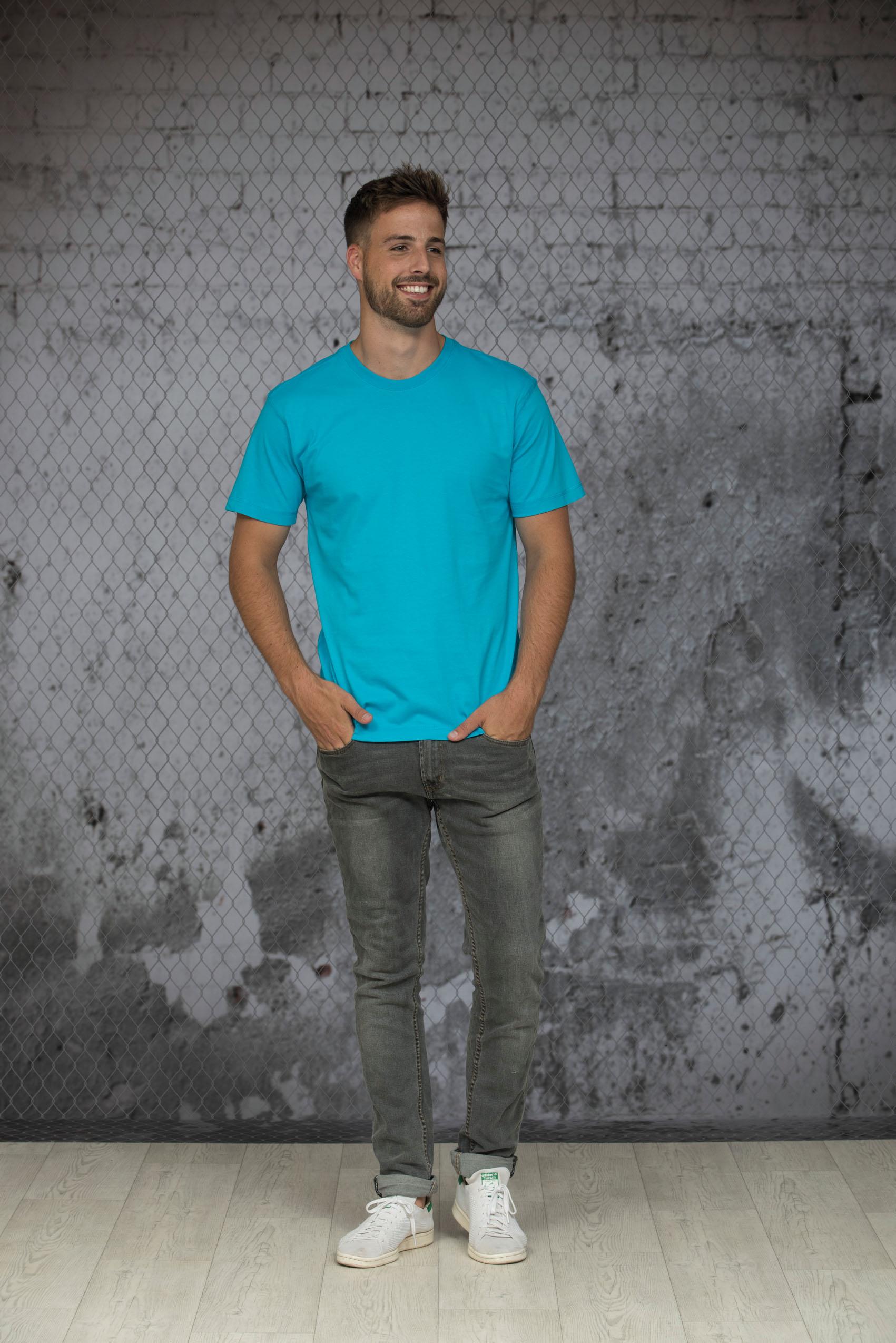 L&S T-shirt iTee Korte mouw voor Heren