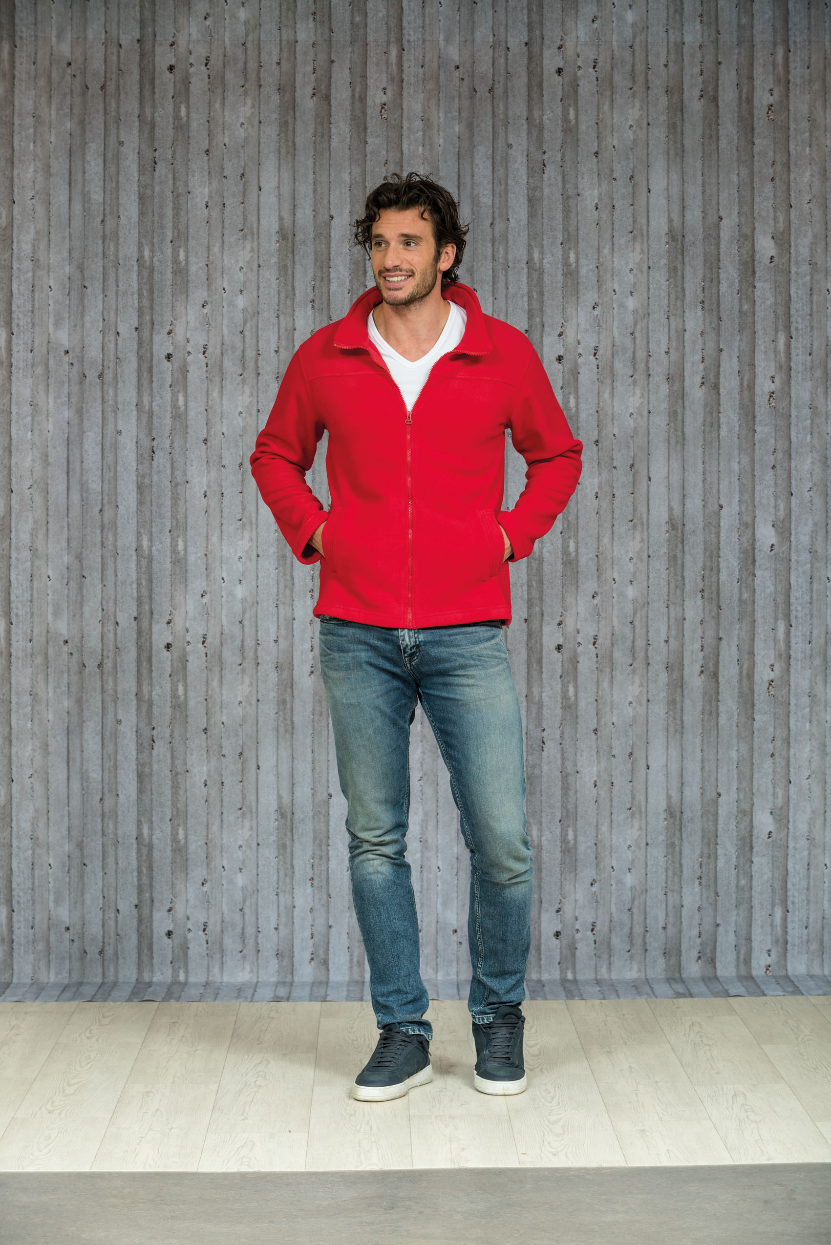 L&S Polar Fleece Cardigan voor Heren