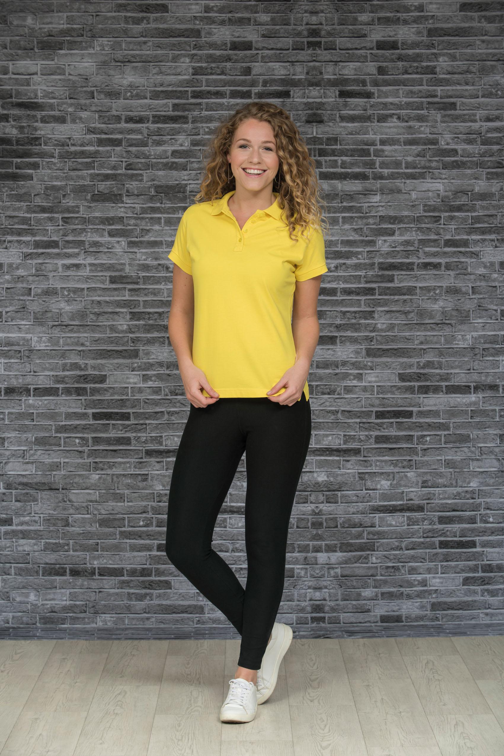 L&S Polo Jersey Korte mouw voor Dames