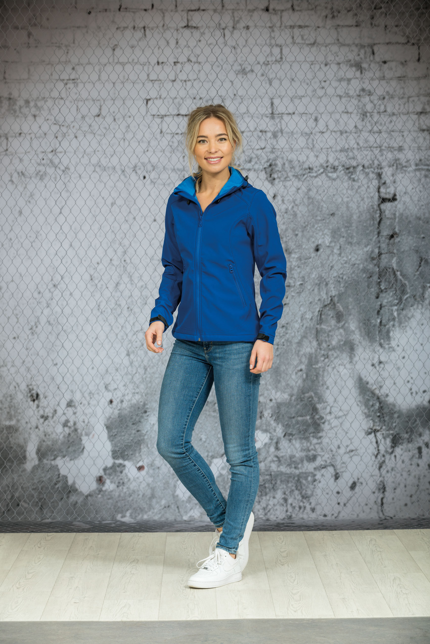 L&S Jas Capuchon Softshell  voor Dames