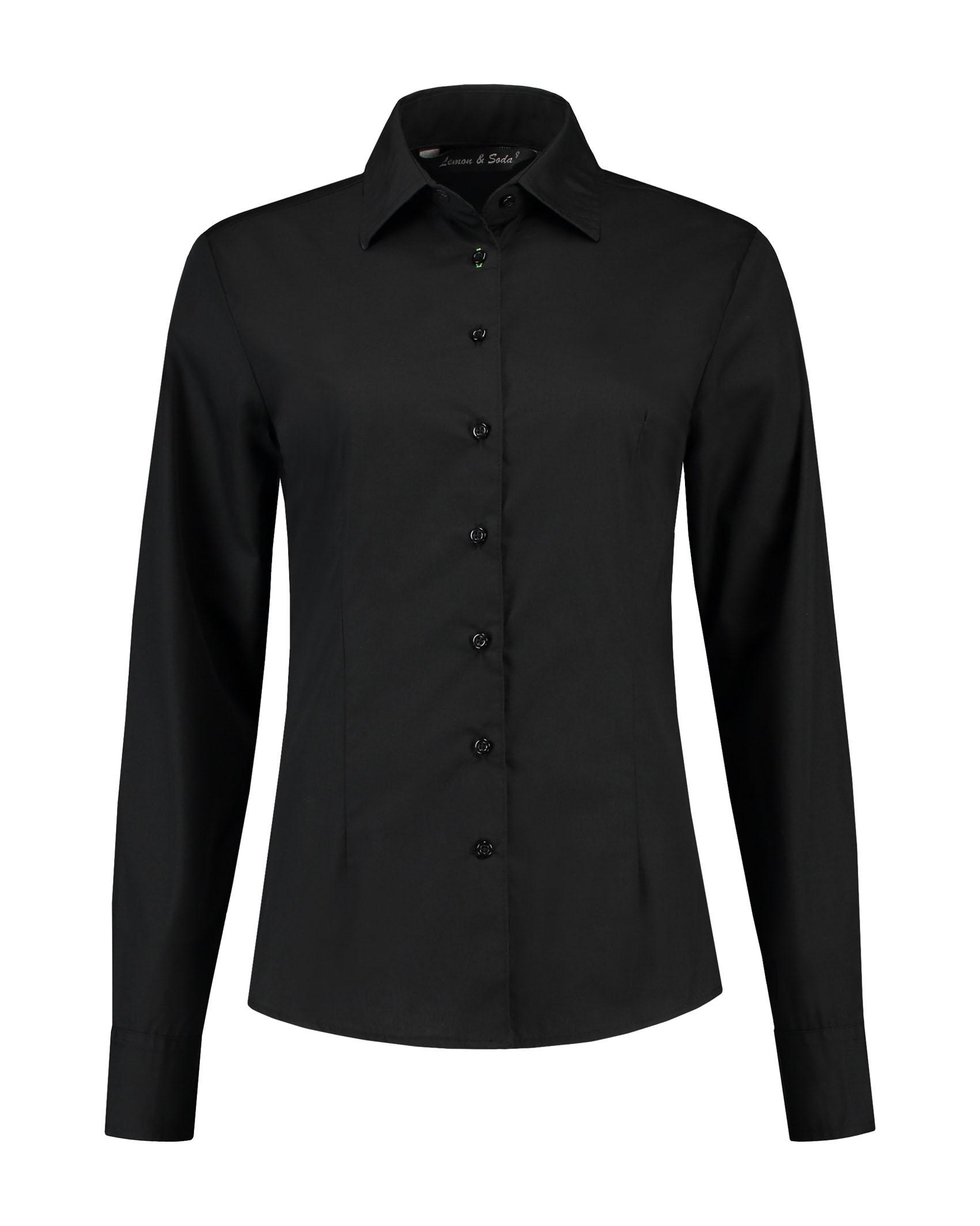 L&S Shirt Poplin Mix LS for her