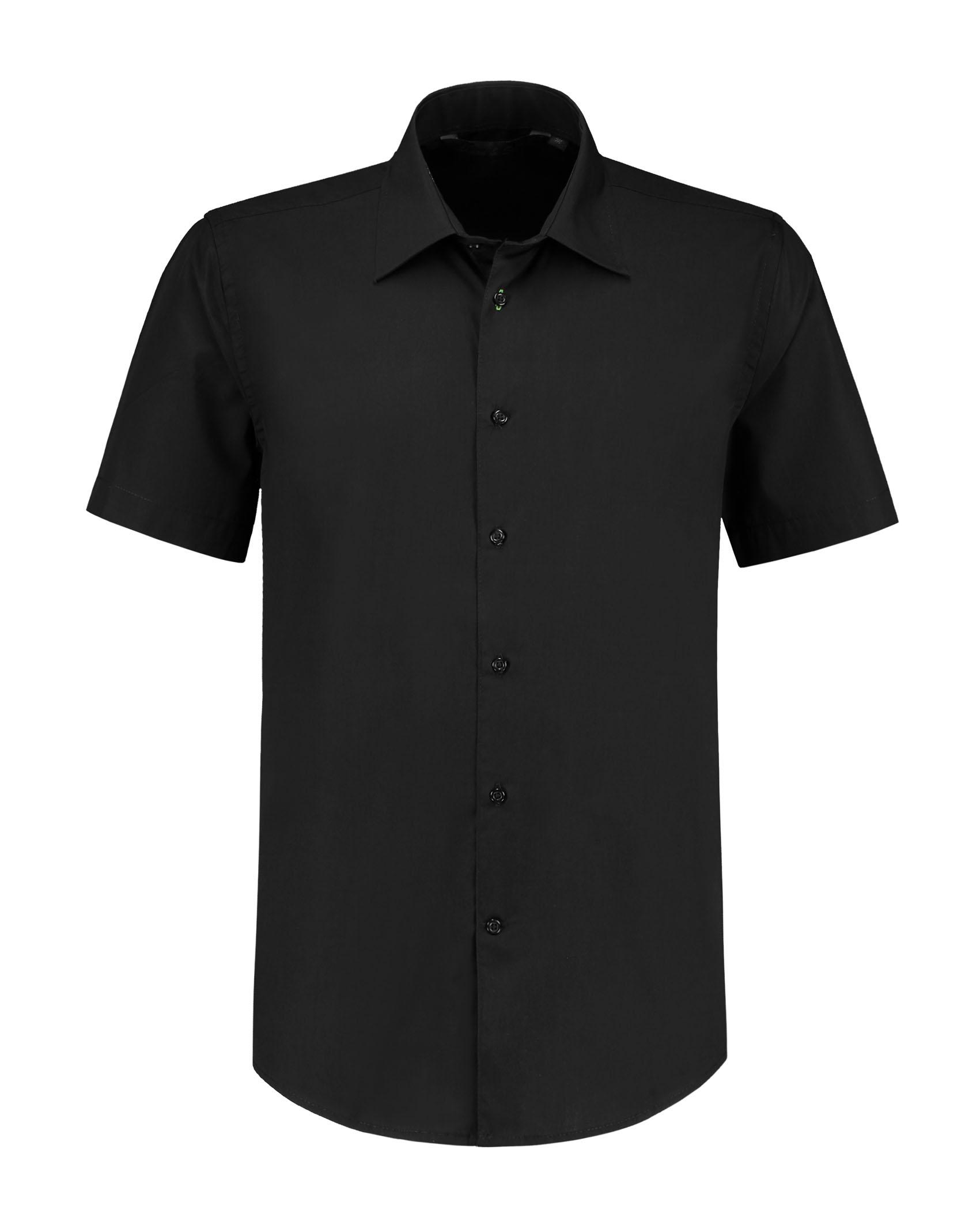 L&S Shirt Poplin Mix SS for him
