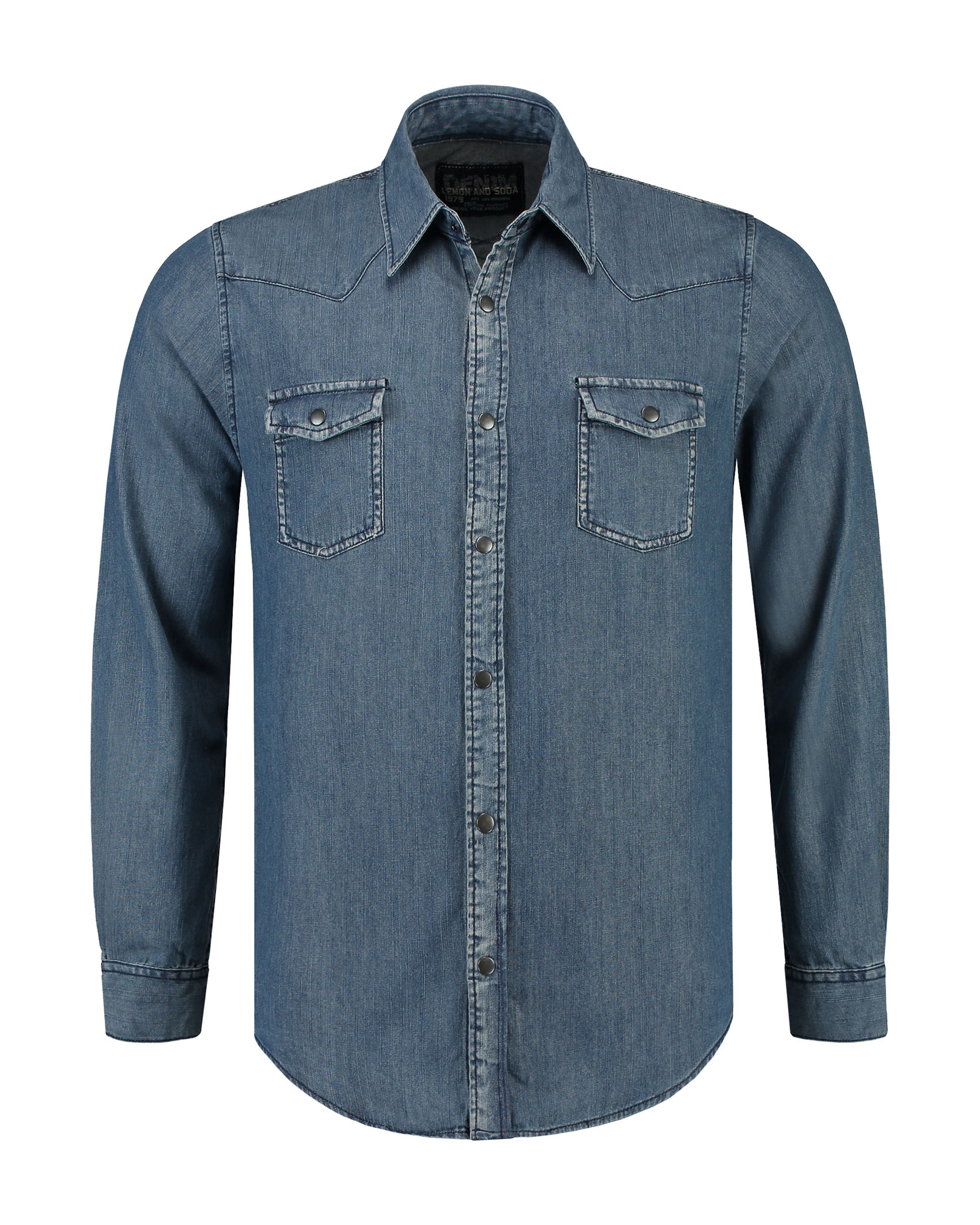 L&S Denim Shirt LS for him