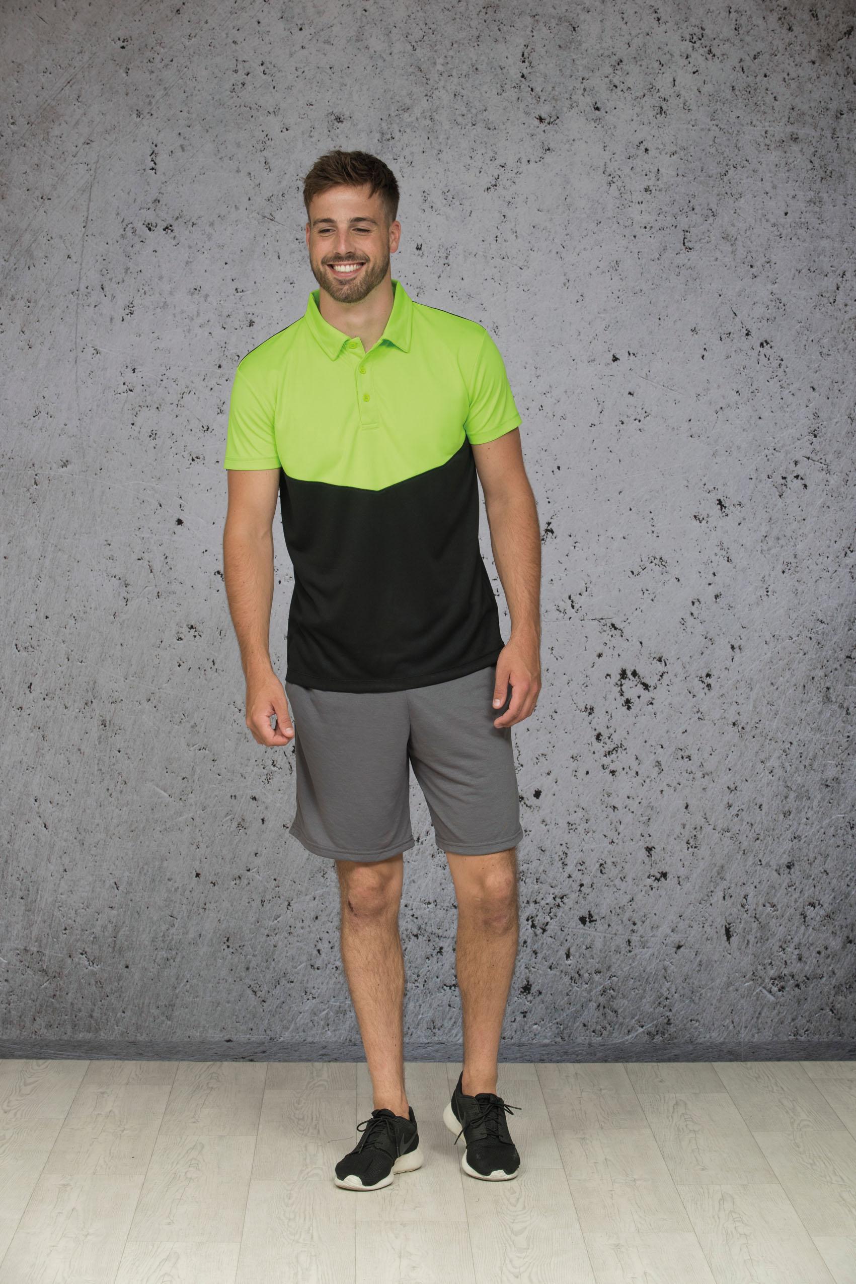 L&S Contrast Sport Poloshirt voor Heren