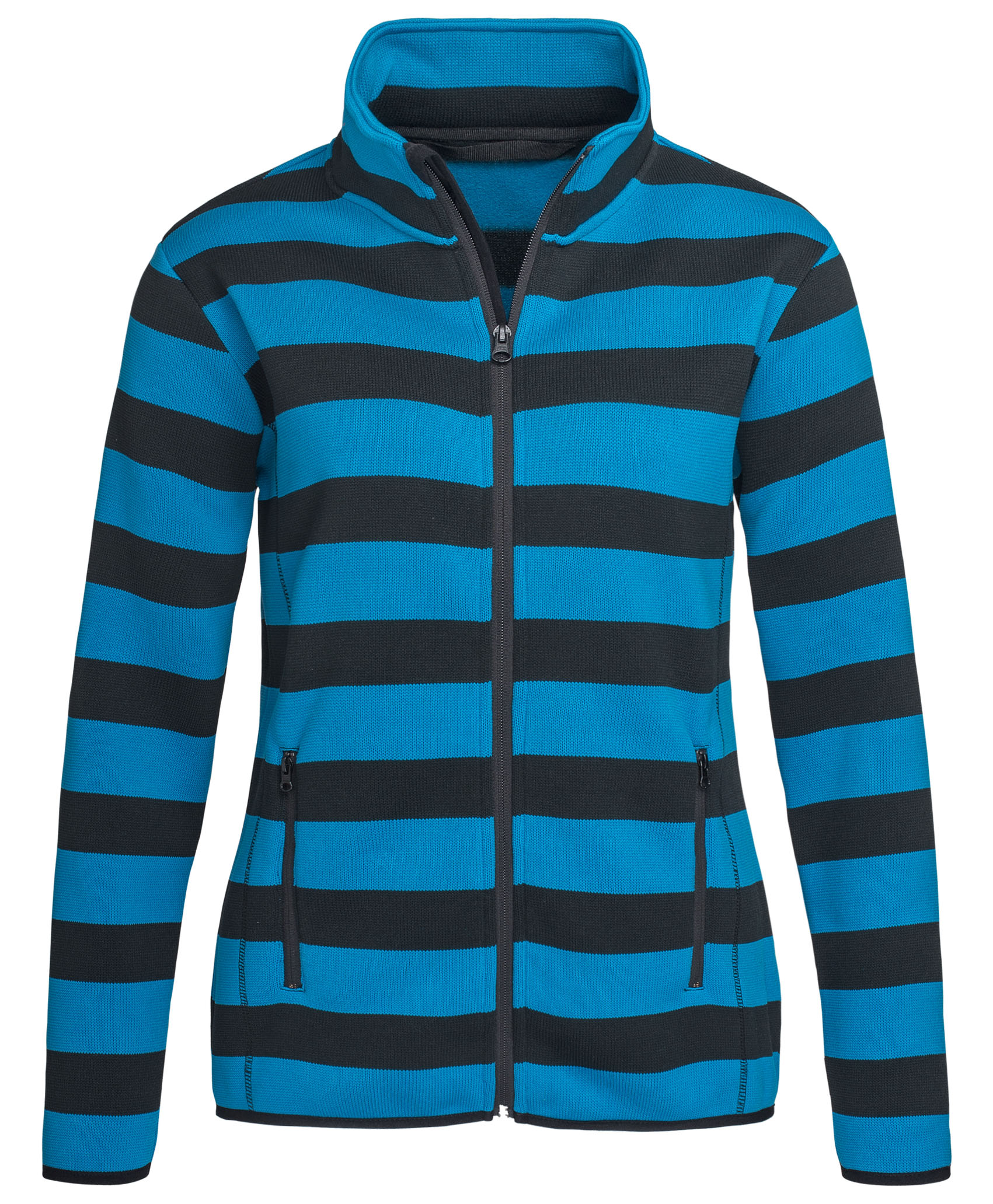 Stedman Polar Fleece Cardigan Striped for her