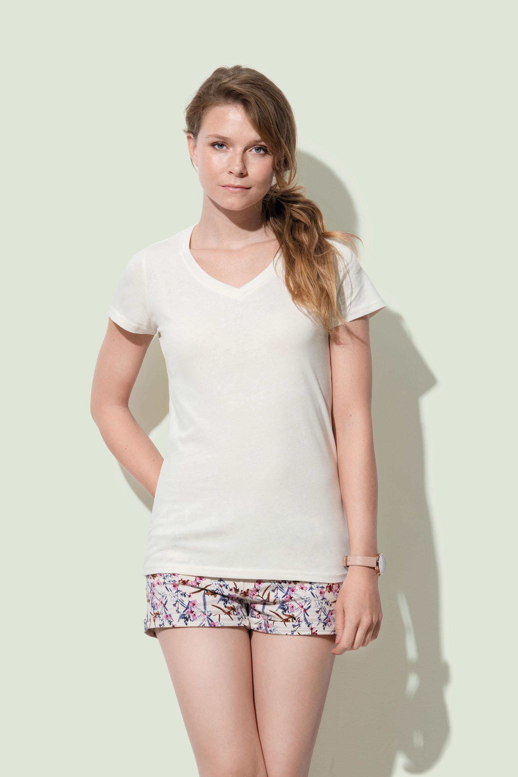 Stedman T-shirt V-hals Janet voor Dames