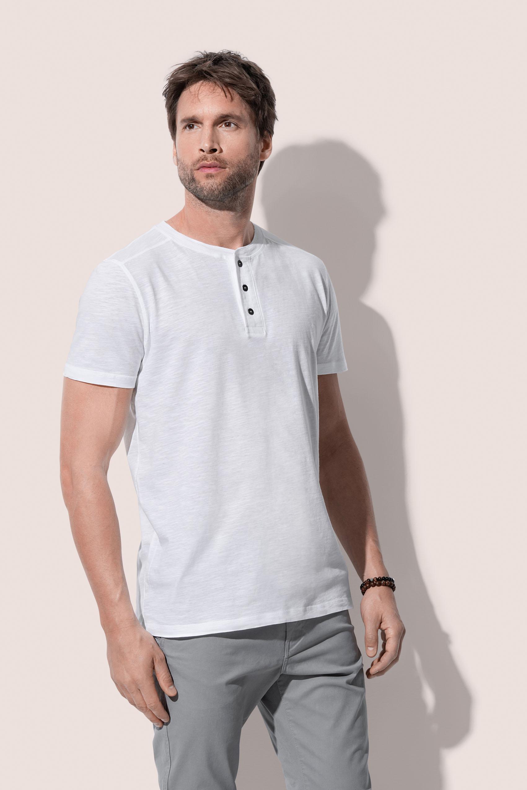 Stedman T-shirt Kort mouw Henley Shawn voor Heren