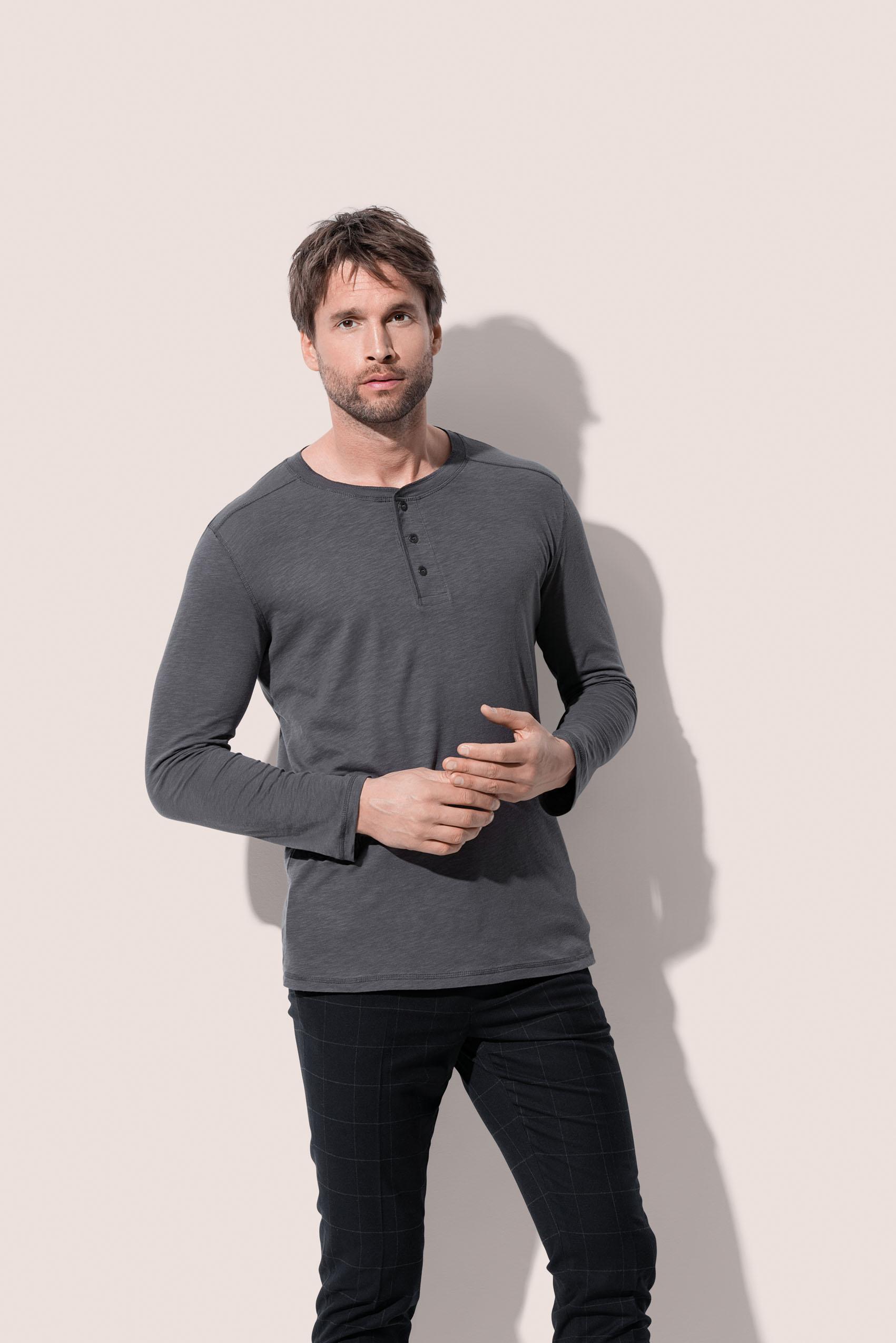 Stedman T-shirt Lang mouw Henley Shawn voor Heren