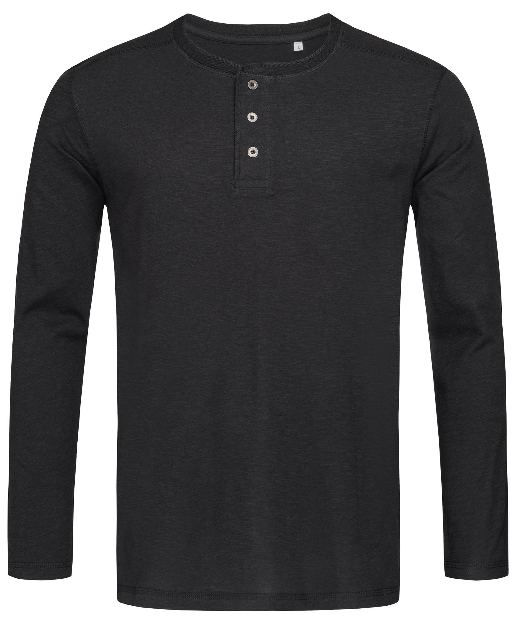 Stedman T-shirt Long Sleeve Henley Shawn for him