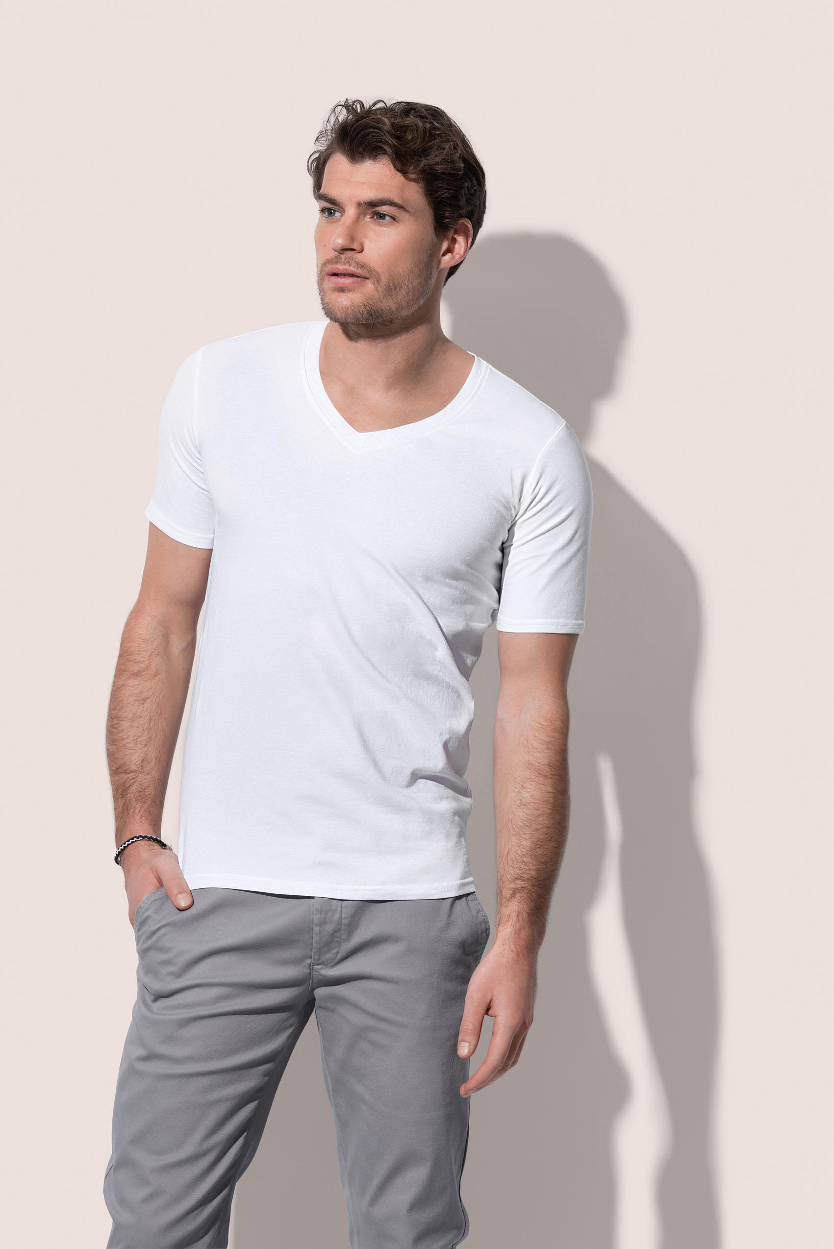 Stedman T-shirt Diep V-hals Dean