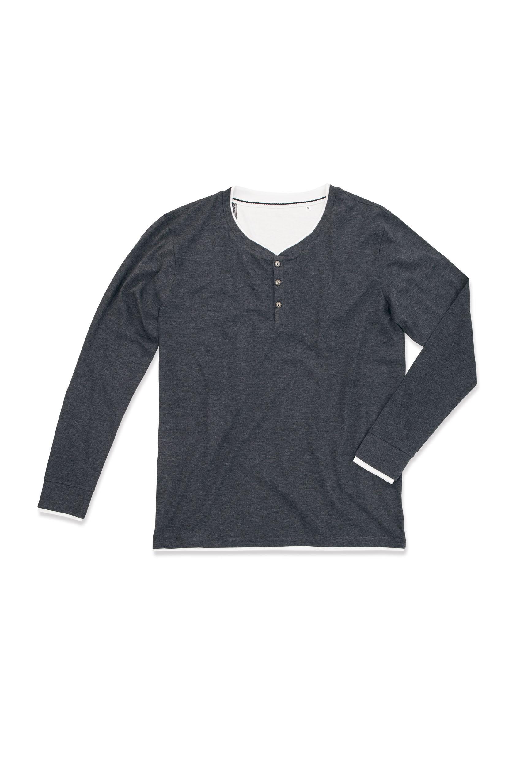 Stedman T-shirt Henley Luke LS for him